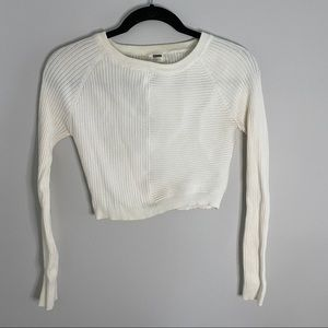 LF Ribbed Long Sleeve Cropped Sweater